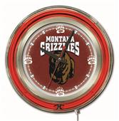 Holland University of Montana Neon Logo Clock