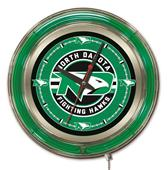 Holland Univ of North Dakota Neon Logo Clock