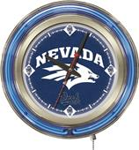 Holland University of Nevada Neon Logo Clock