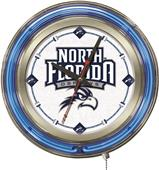 Holland Univ of North Florida Neon Logo Clock
