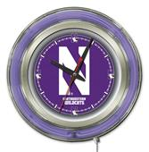 Holland Northwestern University Neon Logo Clock