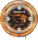 Holland Oregon State University Neon Logo Clock