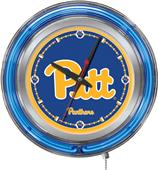 Holland University of Pittsburgh Neon Logo Clock