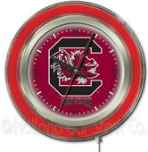 Holland Univ of South Carolina Neon Logo Clock