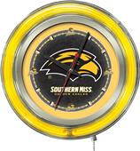 Holland Univ Southern Mississippi Neon Logo Clock