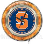 Holland Syracuse University Neon Logo Clock