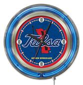 Holland University of Tulsa Neon Logo Clock