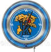 Holland University of Kentucky Cat Neon Logo Clock