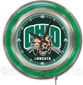 Holland Ohio University Neon Logo Clock