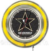 Holland Vanderbilt University Neon Logo Clock