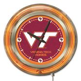 Holland Virginia Tech University Neon Logo Clock
