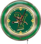 Holland University of Vermont Neon Logo Clock