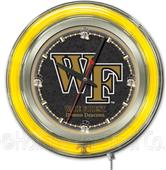 Holland Wake Forest University Neon Logo Clock