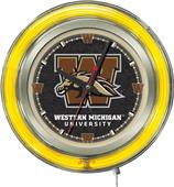 Holland Western Michigan Univ Neon Logo Clock