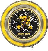 Holland Wichita State University Neon Logo Clock