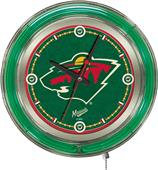 Holland NHL Minnesota Wild Neon Logo Clock