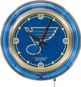 Holland NHL St Louis Blues Neon Logo Clock