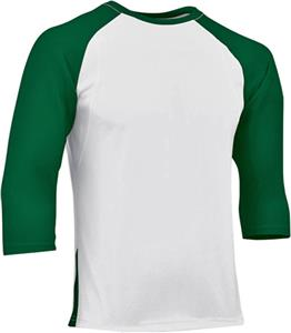 WHITE/FOREST GREEN SLEEVE