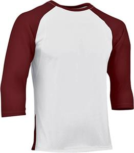 WHITE/MAROON SLEEVE