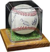Premier Edition Baseball Display With Wood Base