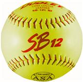 "Dudley Spalding 12"" ASA SB Leather Softballs"