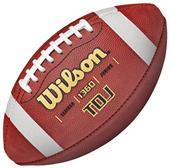 Wilson TDJ Traditional Leather Game Footballs
