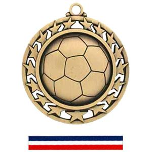 GOLD MEDAL/RED WHITE & BLUE RIBBON