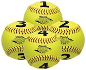 "Diamond Numbered 12"" Visual Training Softballs"