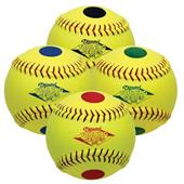 "Diamond 4 Color Dot 12"" Visual Training Softballs"