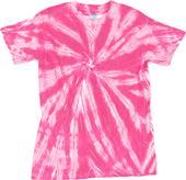 Dyenomite Neon Pink Pinwheel Tie Dye Tee Shirts