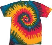 Dyenomite Rasta Wave Tie Dye Short Sleeve T-Shirts