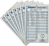 Glover's Baseball Softball Line-Up Cards