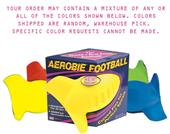 Aerobie Football Curve Fins Spins Over 1,000 RPM