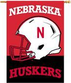 """COLLEGIATE Nebraska 2-Sided 28"""" x 40"""" Banner"""