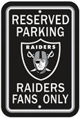 BSI NFL Oakland Raiders Reserved Parking Sign