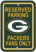 BSI NFL Green Bay Packers Reserved Parking Sign