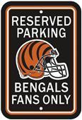 BSI NFL Cincinnati Bengals Reserved Parking Sign