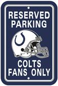 BSI NFL Indianapolis Colts Reserved Parking Sign