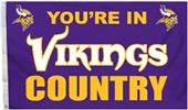 BSI NFL Minnesota Vikings Country 3' x 5' Flag