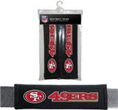 BSI NFL San Francisco 49ers Seat Belt Pads (2Pk)
