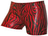 Gem Gear Compression Red Metallic Zebra Shorts