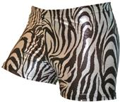 Gem Gear Compression Metallic Zebra Shorts