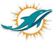"BSI NFL Miami Dolphins Logo 12"" Die Cut Car Magnet"