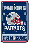 BSI NFL New England Patriots Fan Zone Parking Sign