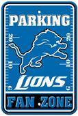 BSI NFL Detroit Lions Fan Zone Parking Sign