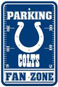 BSI NFL Indianapolis Colts Fan Zone Parking Sign