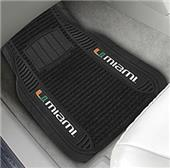 Fan Mats University of Miami Deluxe Car Mats (set)