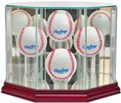 "Perfect Cases ""4 Baseball"" Octagon Display Cases"
