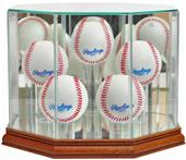 "Perfect Cases ""5 Baseball"" Octagon Display Cases"