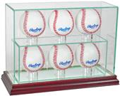"Perfect Cases ""6 Baseball"" Upright Display Cases"